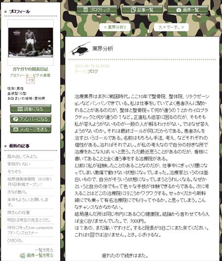 整体ブログ
